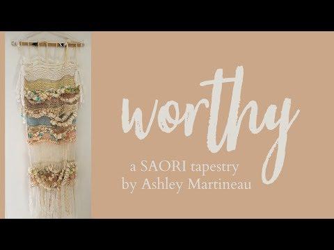 WORTHY a SAORI tapestry by Ashley Martineau