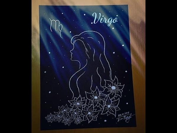 How to draw zodiac sign Virgo Speed drawing