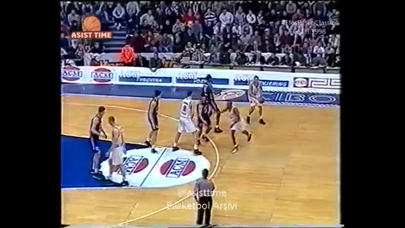 Cibona Zagreb Efes Pilsen 06 03 1998 @BasketbolArsivi