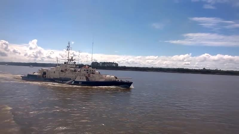 пограничные корабли стрельбы на Амуре 720p