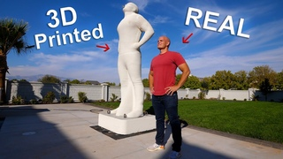 I 3D Printed a 6000 pound Statue of MYSELF - Ultimate Prank!!