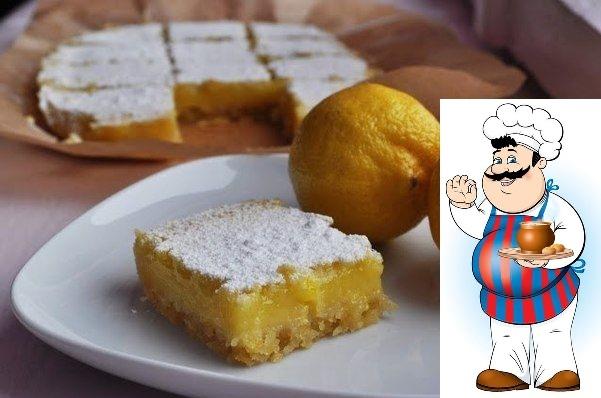Лимонные пирожные. Этот рецепт специально для всех любителей кисленького и лимонов, а также если вам надоели обычные сладкие булочки и вам захотелось разнообразия) Нижний слой пирожного это