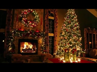 The Best Christmas Music | 2 Hours Fireplace Background