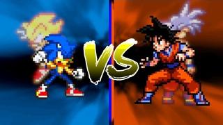 SONIC VS GOKU (SONIC THE HEDGEHOG VS DRAGON BALL SUPER) [SPRITE ANIMATION]