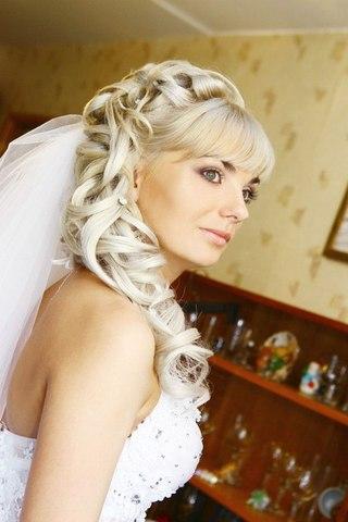 Свадебная прическа солнцево