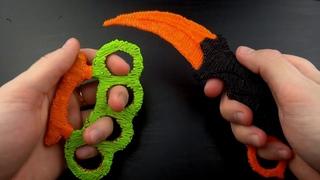 DIY - 3D РУЧКА - НОЖ КЕРАМБИТ ИЗ CS GO - 3D pen