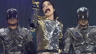 """Michael Jackson (with drummer Jonathan Moffett) """"They Don't Care About Us""""  (Munich 1997)"""