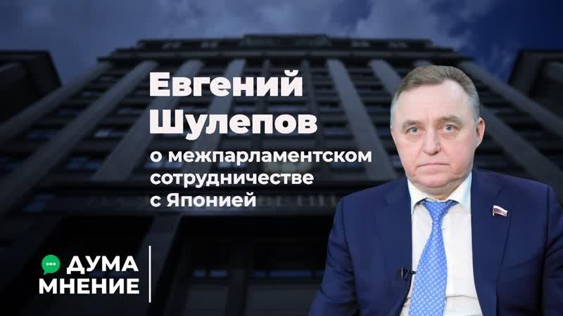 Евгений Шулепов о межпарламентском сотрудничестве с Японией