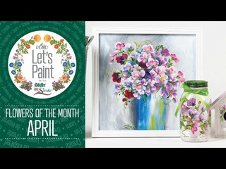 Let's Paint - Donna Dewberry Flower of the Month - April - Sweet Pea