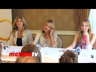 Kate Upton, Cameron Diaz, Leslie Mann The Other Woman Press Conference #Q&A