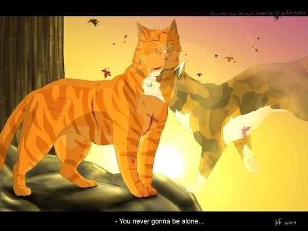 Warriors cats Коты воители Пестролистая и Огнезвёзд Hall of flame RUS