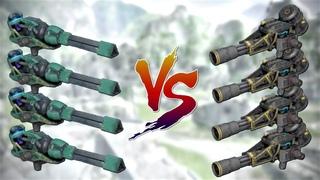 [WR] NEW Titan Weapon KRAIT VS Retaliator - Damage Comparison | War Robots Test Server