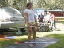 Новосибирская спортсменка несколько раз подняла автомобиль