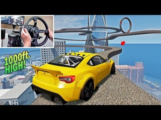 Drifting Crazy HIGH Track w/No Barrier! (Don't Fall Challenge) |