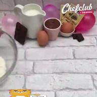 id_42614 Блинно-шоколадный десерт с бананами 🍌🍫🎂  Автор: Chef Club  #gif@bon