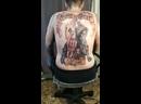 Байкерская Татуировка на спине