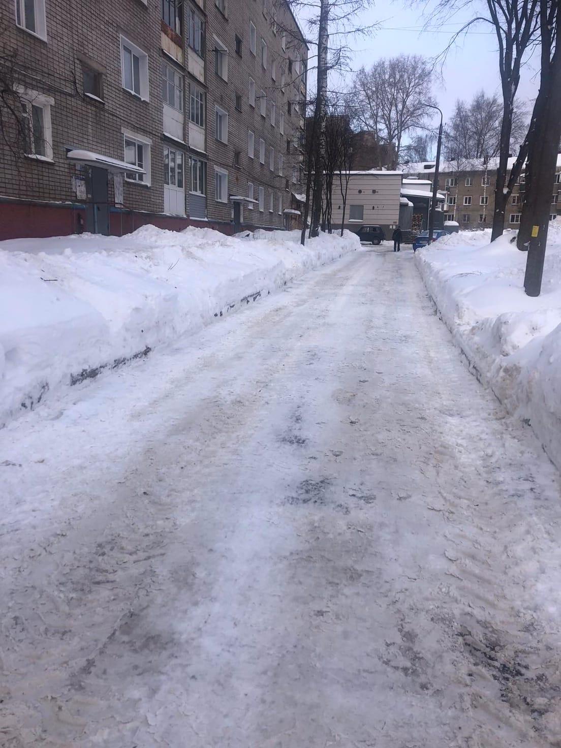 Улица Широнинцев дом 13 механизированная уборка