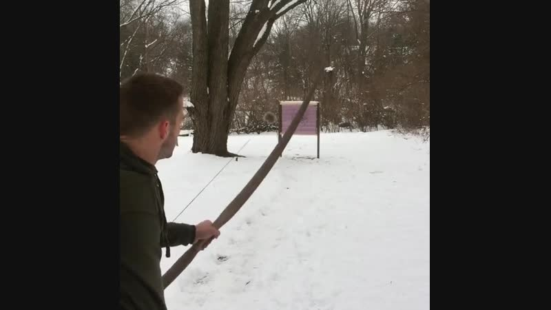 Стрельба из 50 фунтового традиционного лука из красного дуба Ч 2