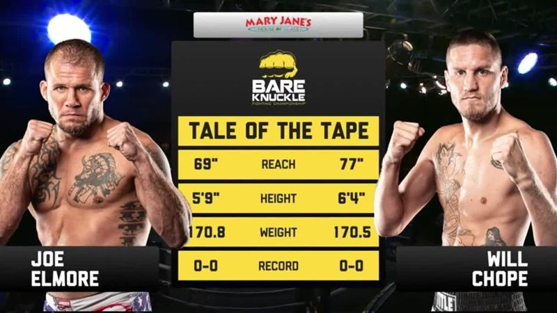 BKFC11 Bare Knuckle Fighting Championship 11 - (2) Joe Elmore vs. Will Chope