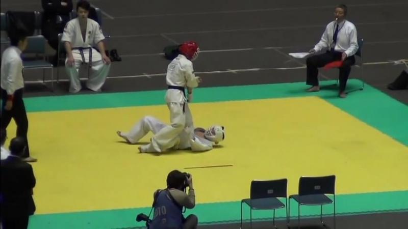 JKJO 空手 胴廻し回転蹴り Hyoma 2013