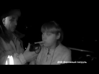 Задержание нетрезвой автоледи на ВАЗ 2114