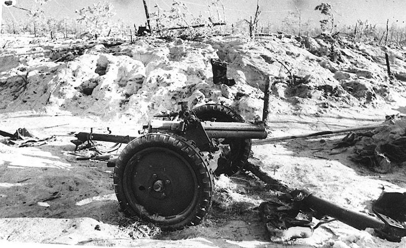 Февраль 1940 года. Карельский перешеек. Уничтоженная прямым попаданием финская 37-мм противотанковая пушка Бофорс на линии Маннергейма. Данная противотанковая пушка калибра 37-мм была разработана шведской фирмой Бофорс в 1932 году. Активно...