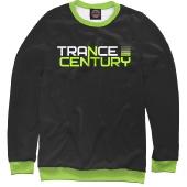 Мужской свитшот Trance Century Radio / Black-Green