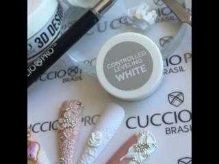 Свадебный 3D дизайн ногтей гелевой пудрой и LED-гелем Cuccio