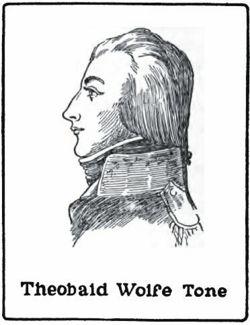 Теобальд Вольф Тон (англ. Theobald Wolfe Tone), также известен как Вольф Тон (англ. Wolfe Tone; 20 июня 1763 — 19 ноября 1798) — ирландский политический деятель. Выходец из богатой англиканской семьи, адвокат, и при этом — страстный сторонник независимости Ирландии и ярый противник британского империализма. В 1783 году основал лигу Объединённые ирландцы, которая распространилась по всей Ирландии и вела оживленную агитацию за сохранение ирландской политической самостоятельности, но на более демократических началах. В 1796 году Тон поехал во Францию просить у директории военной помощи для восстания, которое он деятельно подготовлял вместе со своими друзьями; во Франции он виделся с Карно, Гошем, Бонапартом и добился того, что в 1796 году к берегам Ирландии была отправлена флотилия, под командованием Гоша; сам Тон отправился на ней. Экспедиция не удалась вследствие сильной бури. В 1798 году Тон вновь отправился в Ирландию, чтобы принять участии в восстании, но был арестован и приговорен к смертной казни; в ожидании её он в тюрьме перерезал себе перочинным ножом артерию и умер через несколько дней мучительной агонии