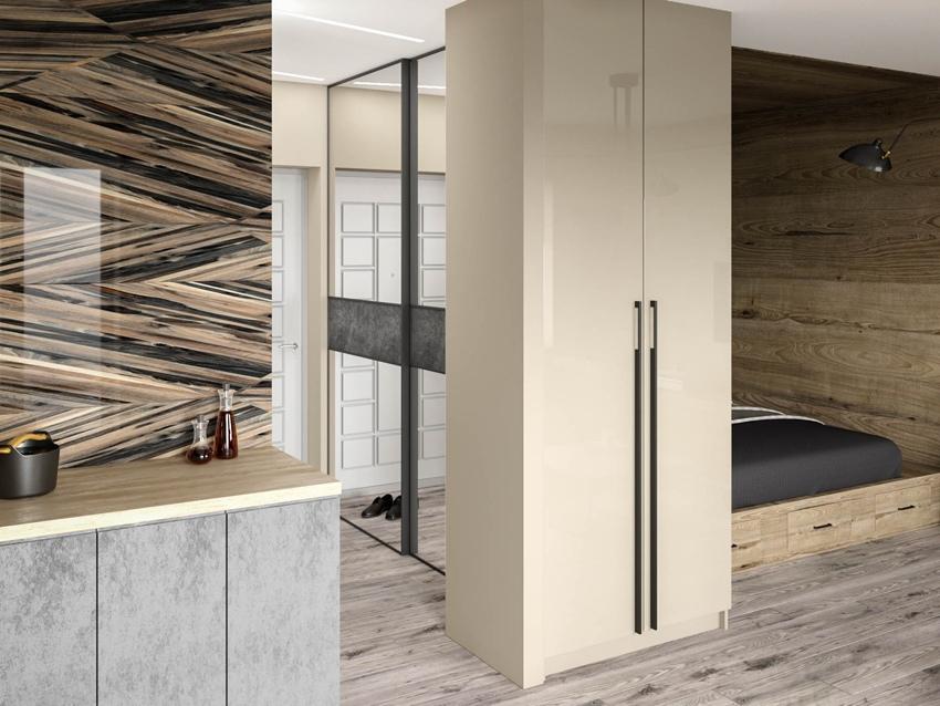 Проект перепланировки 1-комнатной квартиры в студию 35 м.