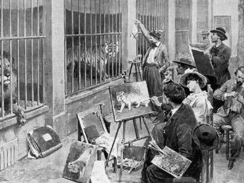 Художники в зоопарке