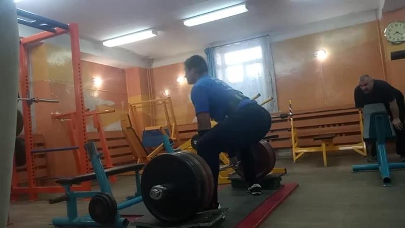 Волков Сергей2002 Тяга с плинтов (100мм) 305х3 (30.05.2019)