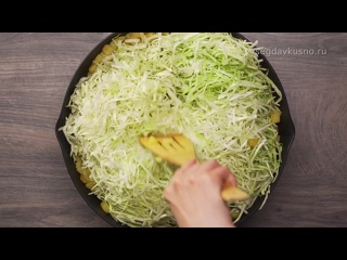 3 ингредиента для восхитительного блюда! Жареный картофель с капустой и беконом