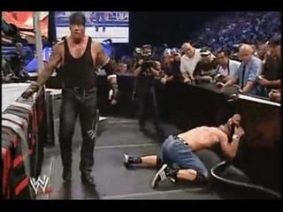 MetalHead The Undertaker vs rapper John Cena WWE Vengeance 2003.Металлист Андертейкер против рэппера Джона Сины.11DeadFace