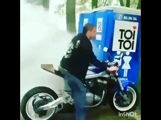 Админ в первые дни после покупки мотоцикла