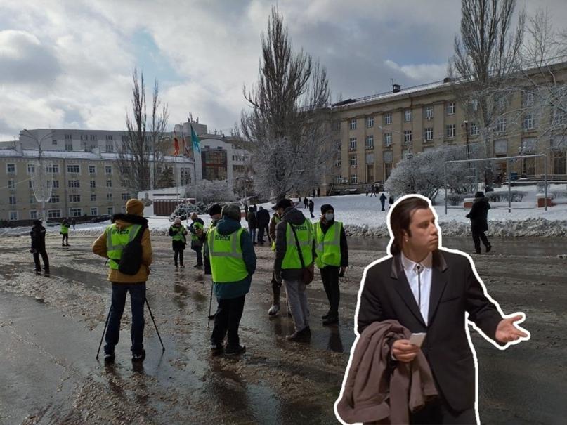 Сегодня Курск был немного похож на Париж, здесь, кажется, тоже был протест желты...