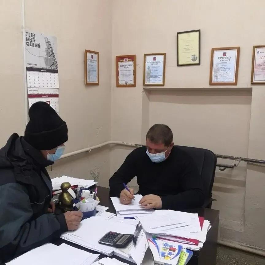 Директор МУПа «Петровское жилищно-коммунальное хозяйство» Дмитрий Жихарев провёл приём граждан