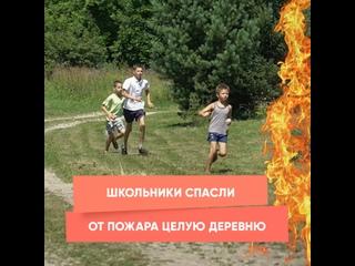 Школьники спасли от пожара целую деревню