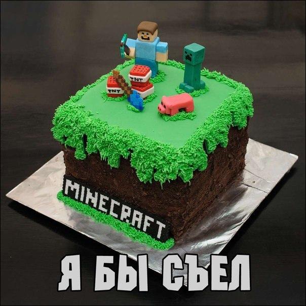торт майнкрафт на день рождения #4