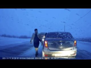 Норильск. Конфликт на дороге. 🤬🔞Гололед, много ава...
