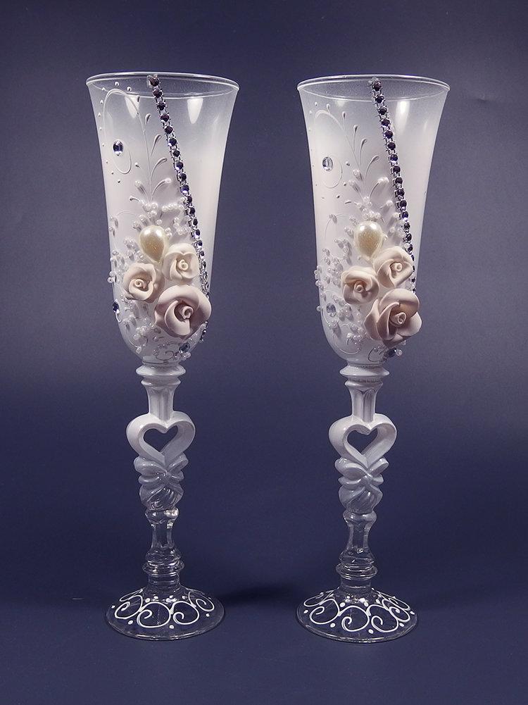 eC61JyKdTy0 - Красивые свадебные фужеры