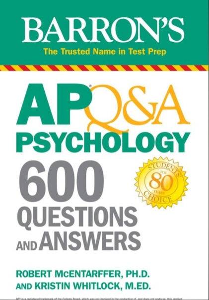 AP Q&A Psychology 600 Questions and Answers (Barron's Test Prep)