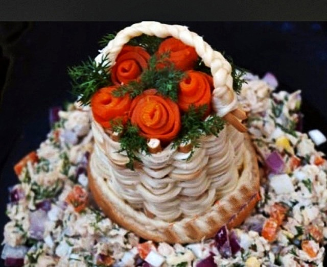 Корзиночка из сыра сулугуни
