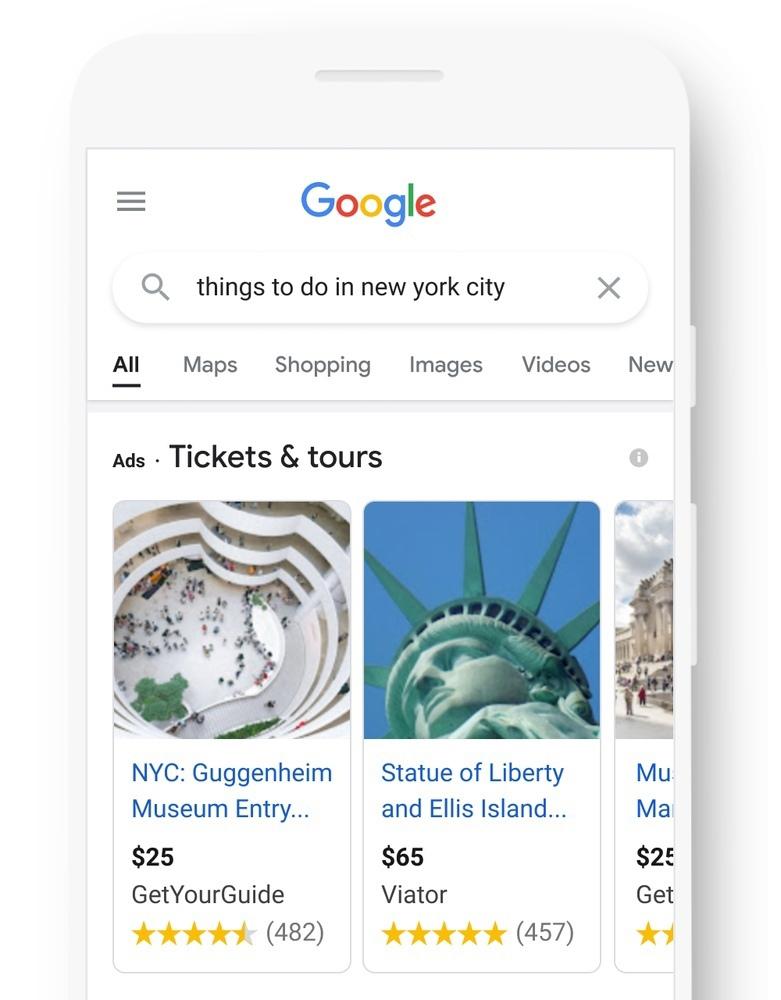 Things to do Google Ads — новый формат рекламы | Гугл Объявления
