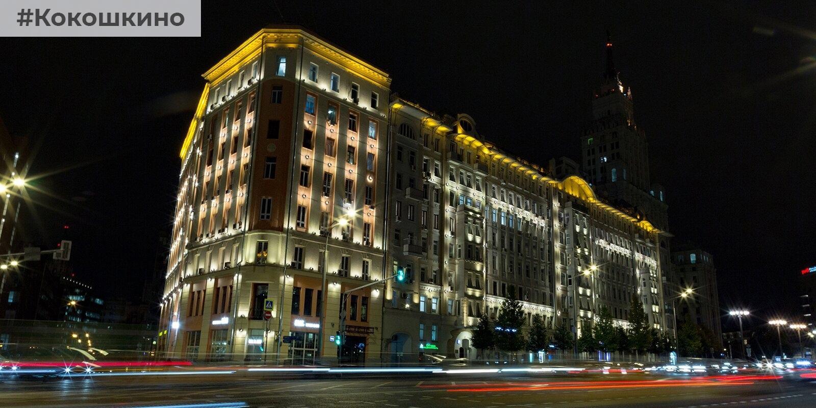Самые красивые здания с подсветкой на Садовом кольце