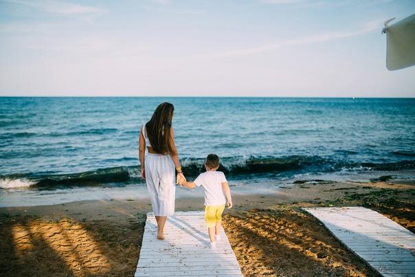 Фотосессия мама и ребенок в Феодосии. Ксения 07.19