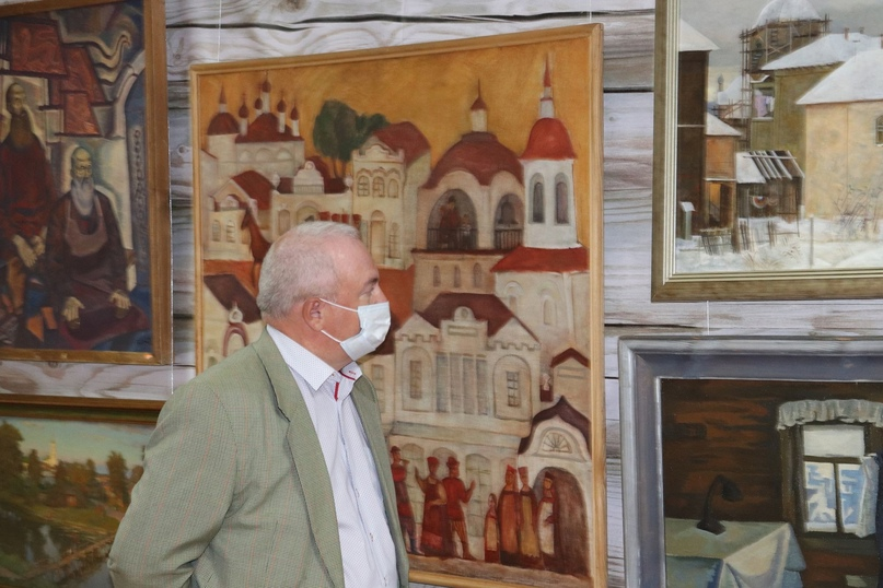Выставка живописи и графики «Душа хранит» из коллекции Вологодской картинной гал...