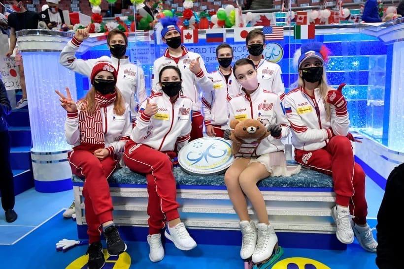 Российские фигуристы выиграли командный Чемпионат Мира в