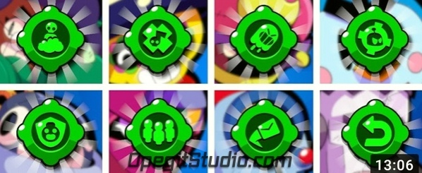 Иконки новых гаджетов с превьюшки Кайроса #BS@supercell_studio