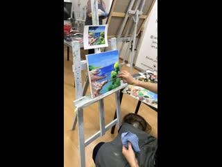 Live: Живопись Мастер-классы Картина маслом в СПБ